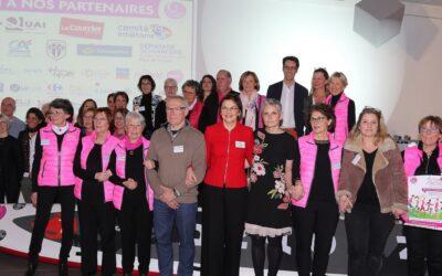 Octobre Rose : soirée partenaires – le Comité féminin 49 distribue 80 000 euros grâce à son édition 2018