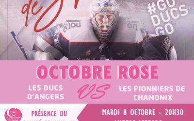 Mardi 8 octobre : soirée rose à la patinoire d'Angers en présence du comité féminin49 !